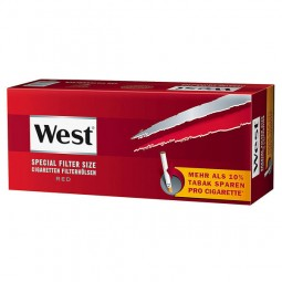 West red special filter size cigarettes filter sleeves 250 pieces