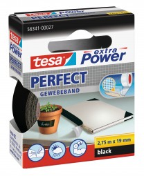 Extra power perfect black, 2, 75 m 19 mm fabric tape