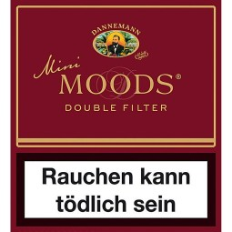 Dannemann moods mini double filter 10 piece cigarillos