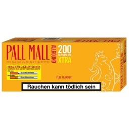 Pall Mall all-round full flavour Xtra 200 filter sleeves