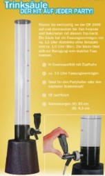 Drinking beer column column 3.5 liter beverage dispenser