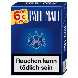 Pall Mall blue Maxi 25 cigarettes