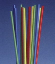 Straws in assorted colors about 22 cm