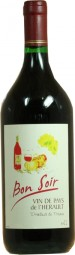 Bon Soir french red wine 1 litre bottle