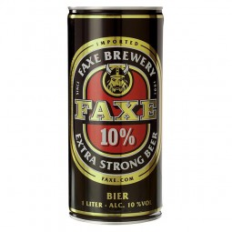 Faxe extra strong stout from Denmark 1 litre can