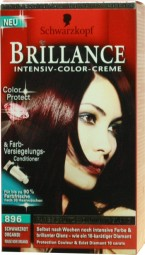 Brilliance Intensive Color Cream Black Red Organdie 896