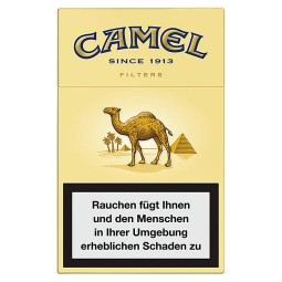 Camel filter cigarettes, 19, yellow