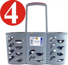 4 x Bottle carrier approx. 30 x 21 x 31 cm for 6-7 bottles