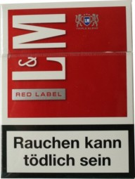 LundM red label-big Pack 21 cigarettes