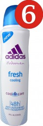 6 pcs Adidas women fresh cooling deodorant 150 ml