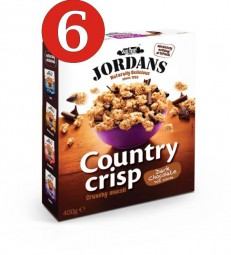 6 x Jordans Country Crisp - Crunchy Chocolate 400g