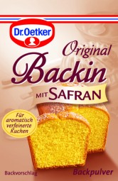 Dr. Oetker Original backin with saffron