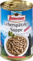 Zimmermann liver spaetzle soup 400 ml can