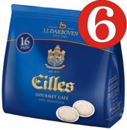 6 Piece Gourmet Cafe EILLES pads 16 pads per a 7g