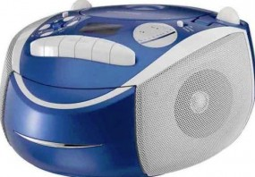 Grundig RCD 1420 MP3 portable stereo radio CD MP3 blue