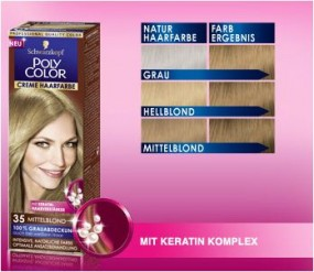 Poly color cream hair color 35 Mittelblond