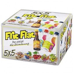 FLIC FLAC 5 x 5 liqueur MIX 25 x 0, together
