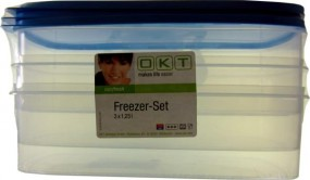 OKT 3 pieces 3x1 freezer containers, 25 liter