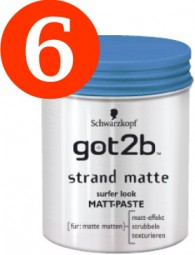 6 x Schwarzkopf got2b beach matt surfer look 100ml