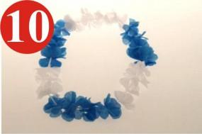 10 x Hawaiian chain ...blau white