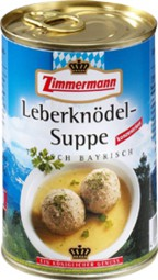 Zimmermann liver dumpling soup 400 ml can