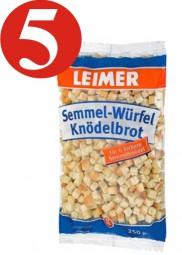 5 x Semmel dice dumpling bread Leimer Semmel-Würfel Knödelbrot 250g
