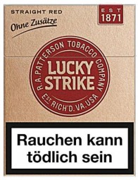 Lucky Strike straight red 22 cigarettes without additives