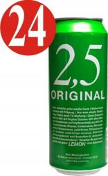 24x 2.5 Original and Lemon Beer 500ml can