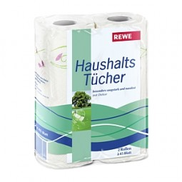 Household towels 2 rolls of 45 sheets `