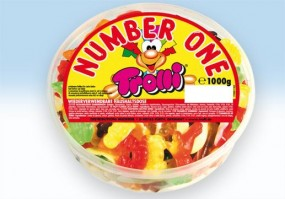 Trolli Number one fruit gums 1 kg tin