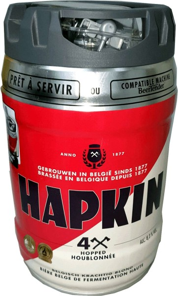 Hapkin Belgian beer party keg 5 liter keg incl. Tap 8.3% vol.