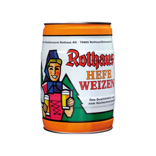 Rothaus Hefeweizen 5 L Party Box yeast White beer 5.4 vol%