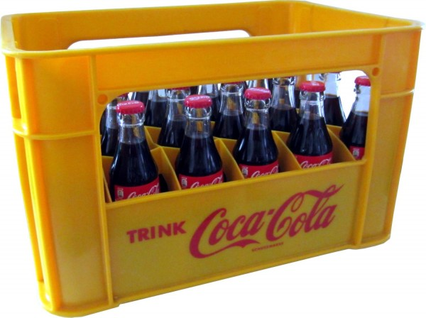 24 x Coca-Cola Classic 0.2L original case glass bottle