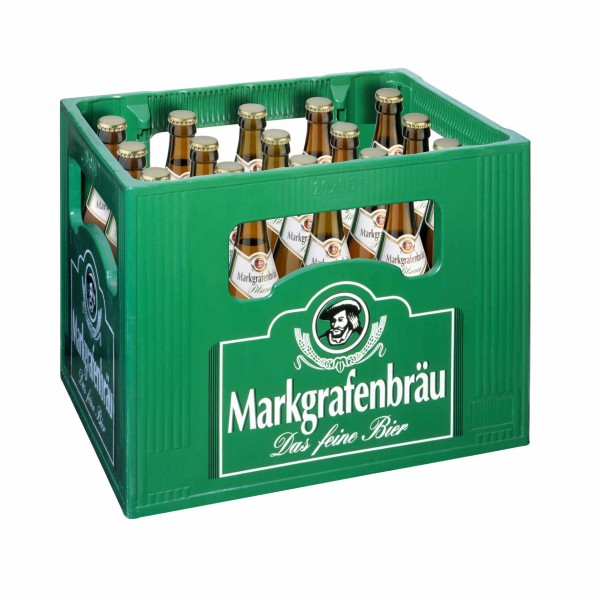 20 x Margrafenbräu Pilsener 0.5 L - 4.7% alcohol Original box
