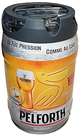 Pelforth beer blonde 5 liter party keg 5.8% vol. with disposable tap