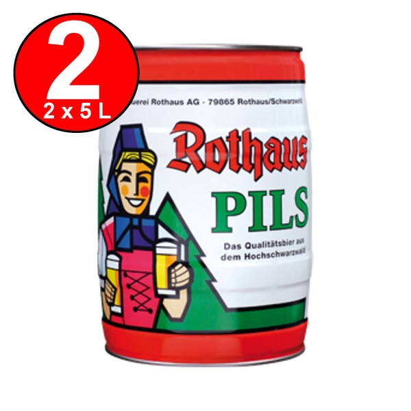 2 x Rothaus Pils 5 L Party Box 5.1 vol%