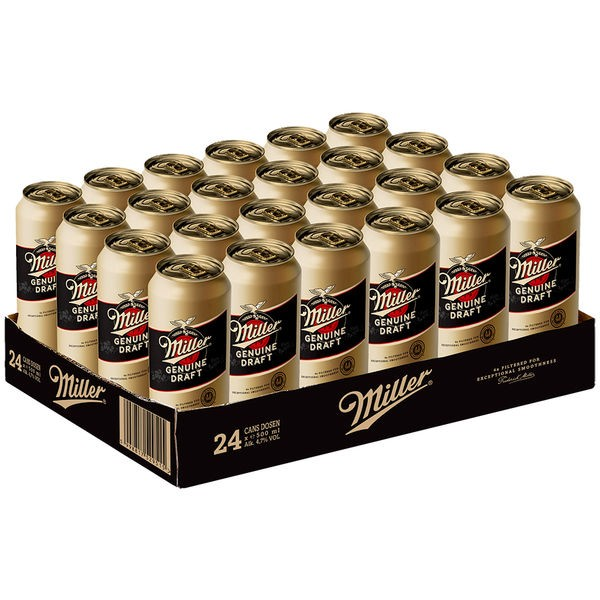 2 x 24 x Miller Genuine Draft cans USA beer 0.5 L 4.7% vol. alc ONE WAY