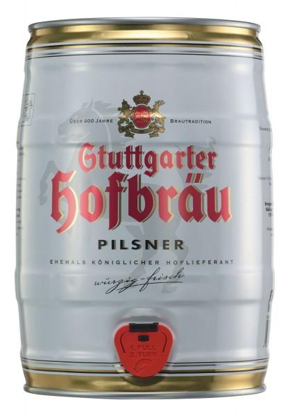 4 x Stuttgarter Hofbraeu Pilsner 5 L keg party 4.9% vol.