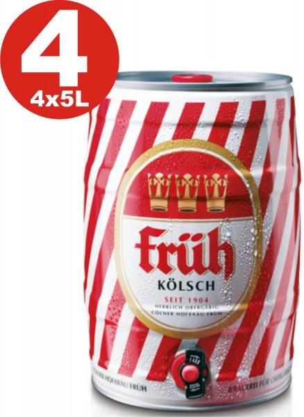 4 x Frueh Koelsch 5 L party barrel 4.8% vol.