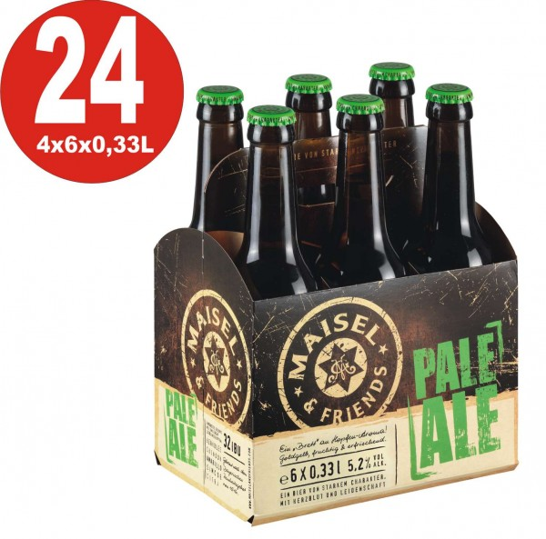 Maisel + Friends 24 x Pale Ale Craft Beer 5.2% vol. Alk. Original box - A board of hop aroma