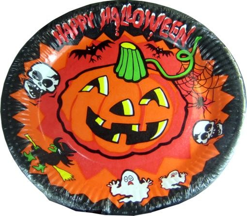Happy Halloween paper plates 8 Pack