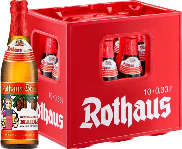 20 x Rothaus Black Forest Maidle 0,33L 5,1% vol. 2 x 10er original box