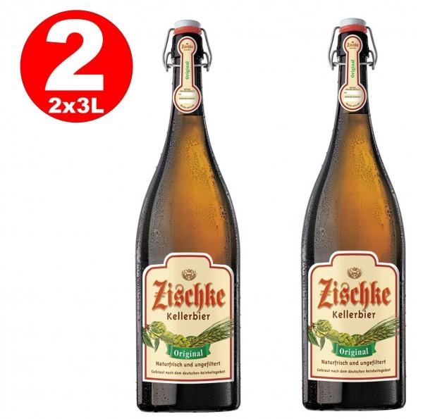 1 x Zischke Kellerbier Original 3 liters! Ironing bottle unfiltered 4.8% vol MULTIWAY