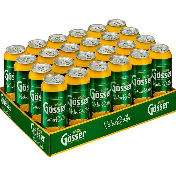 24 x 0,5L cans Gösser Natur Radler Lemon 2,0% vol. alc. DISPOSABLE
