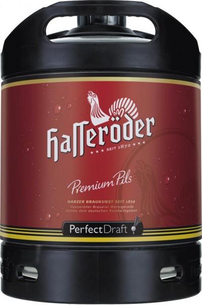 4x Hasseroeder beer keg Perfect Draft Premium Pils 6 liter barrel 4.9% vol.
