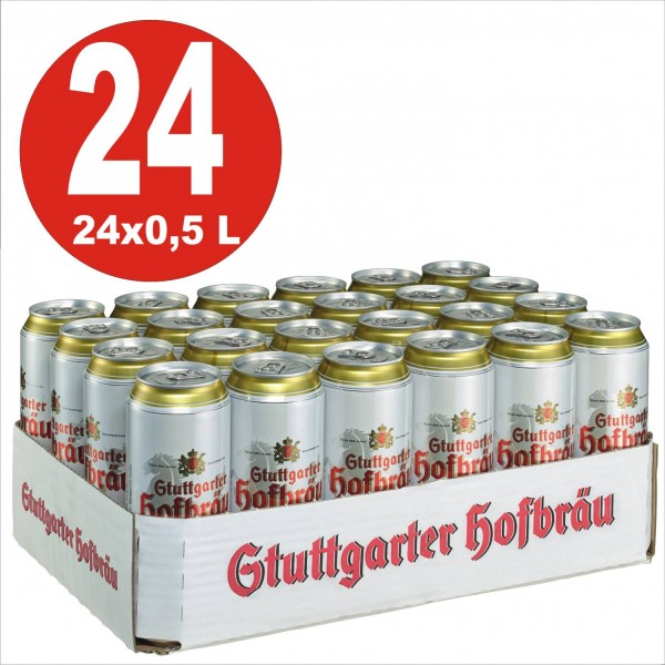 24x0,5L cans Stuttgarter Hofbräu Pilsner 4,9% Vol.