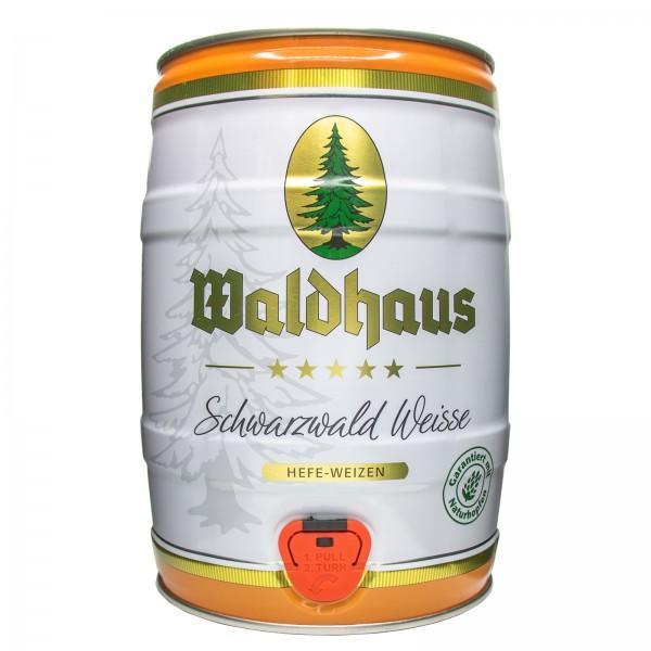 2 x Waldhaus Schwarzwald Weise Black Forest White Yeast Wheat 5 L Party Keg 5.6% vol.