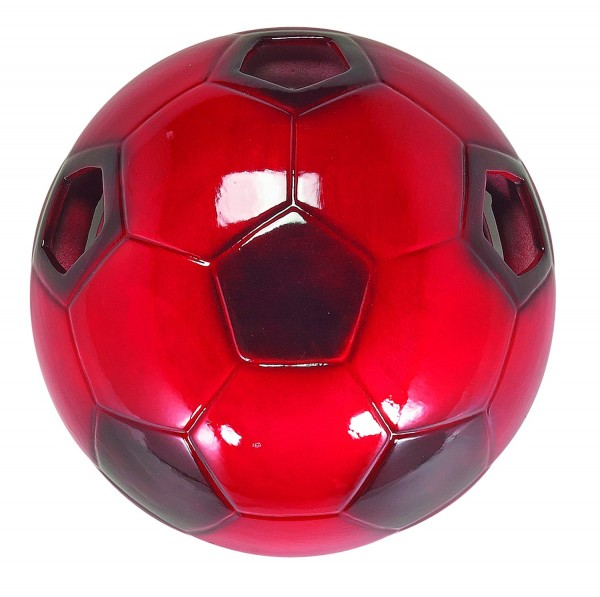 LAMPEX wall light football red ceramic 28 x 28 cm