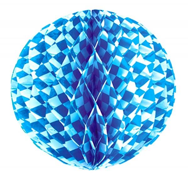 Honeycomb Ball Ø 30 cm Bavarian Blue flame retardant