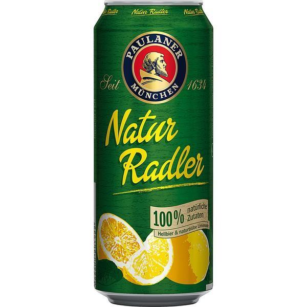 24 x 0.5L cans of Paulaner Natur-Radler 2.5% vol. One-way deposit